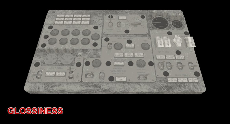 mi-8mt mi-17mt central overhead board english 3d model 3ds max fbx obj 301163