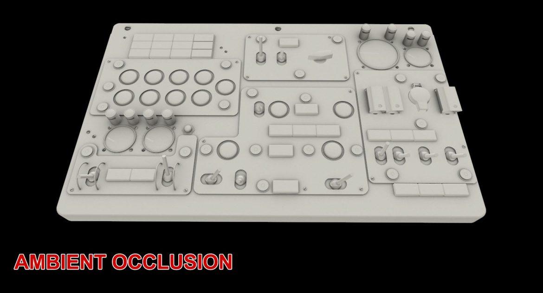 mi-8mt mi-17mt central overhead board english 3d model 3ds max fbx obj 301168