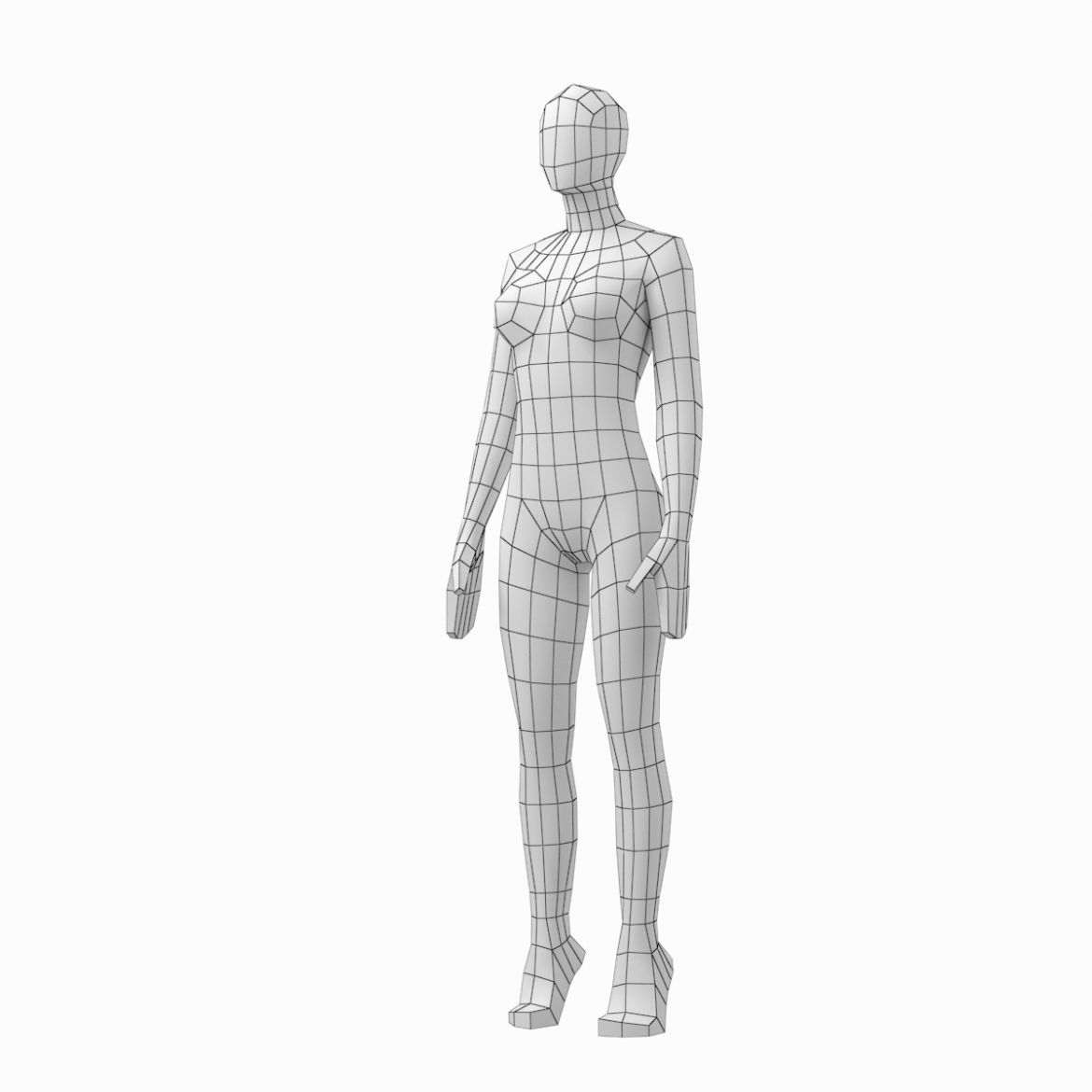 male and female low poly base mesh in rest pose 3d model 3ds max fbx c4d ma mb obj 301240