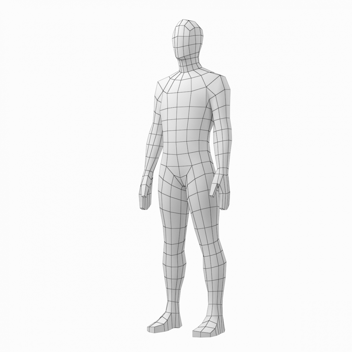 male and female low poly base mesh in rest pose 3d model 3ds max fbx c4d ma mb obj 301241
