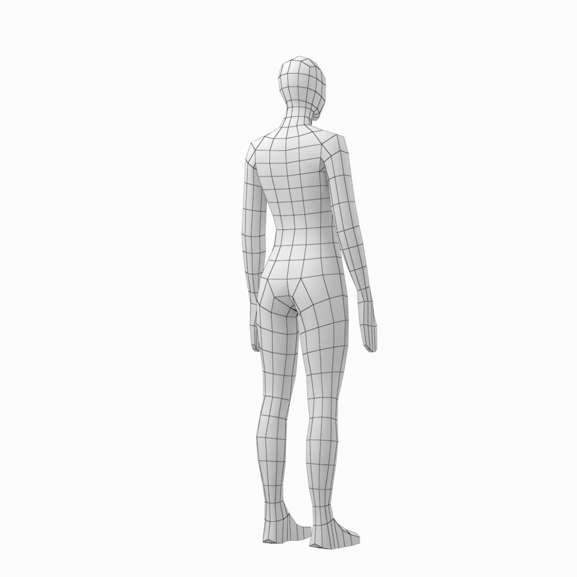 male and female low poly base mesh in rest pose 3d model 3ds max fbx c4d ma mb obj 301242