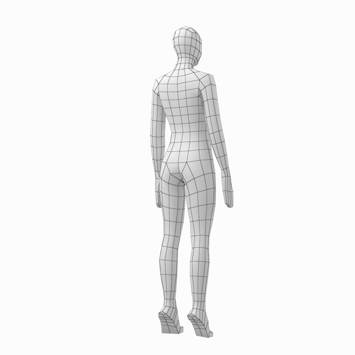male and female low poly base mesh in rest pose 3d model 3ds max fbx c4d ma mb obj 301243