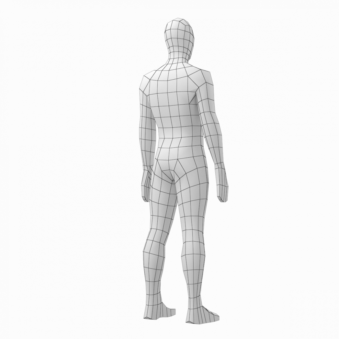 male and female low poly base mesh in rest pose 3d model 3ds max fbx c4d ma mb obj 301244