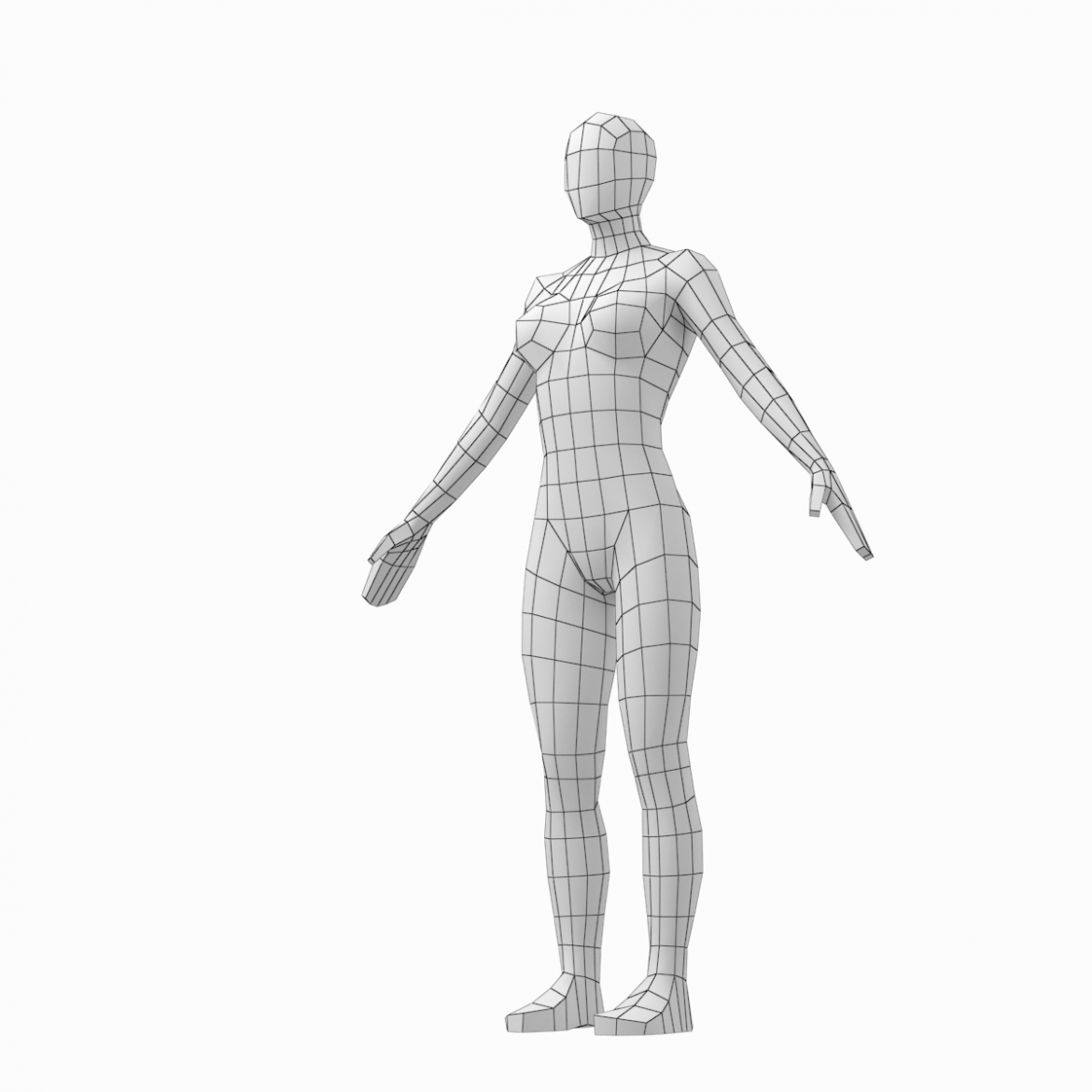 male and female low poly base mesh in a-pose 3d model 3ds max fbx c4d ma mb obj 301267