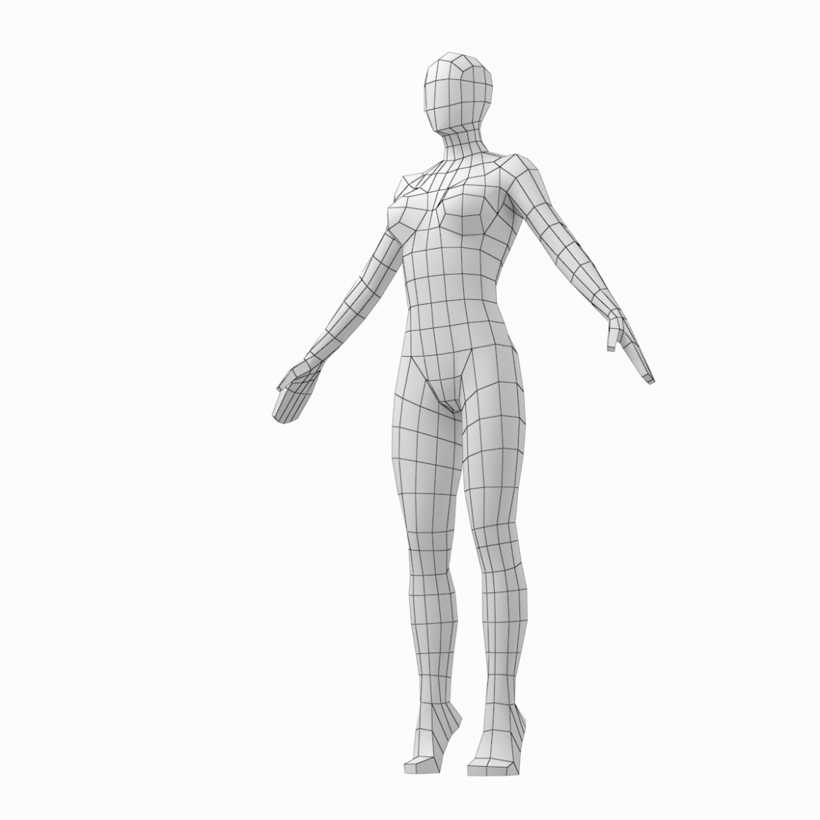 male and female low poly base mesh in a-pose 3d model 3ds max fbx c4d ma mb obj 301268