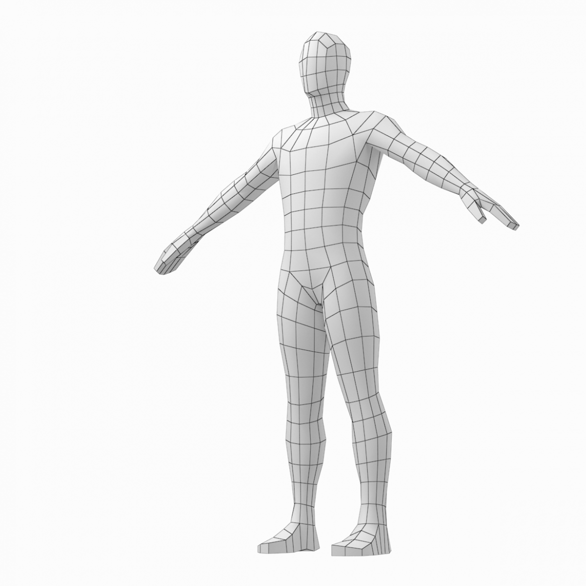 male and female low poly base mesh in a-pose 3d model 3ds max fbx c4d ma mb obj 301269