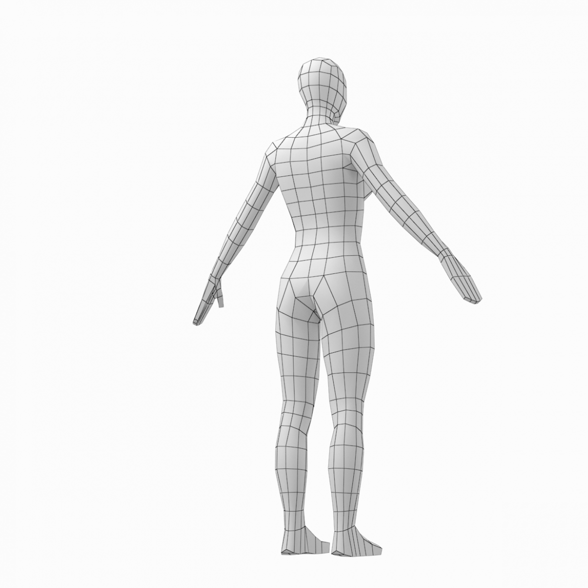 male and female low poly base mesh in a-pose 3d model 3ds max fbx c4d ma mb obj 301270