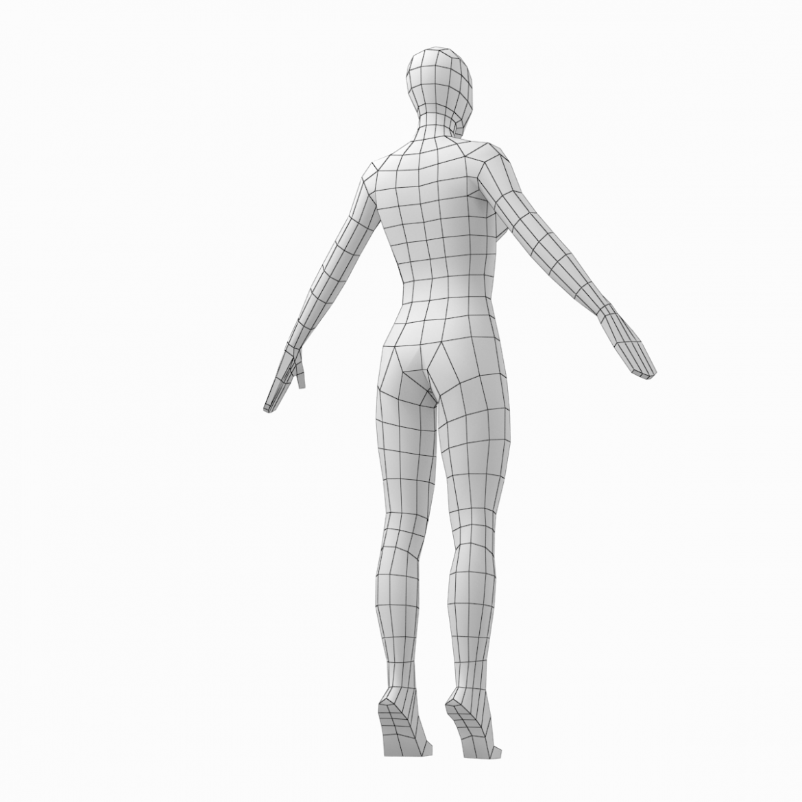 male and female low poly base mesh in a-pose 3d model 3ds max fbx c4d ma mb obj 301271