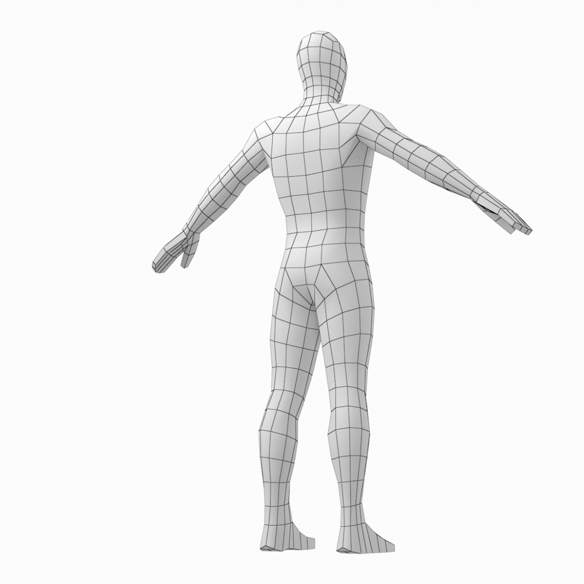 male and female low poly base mesh in a-pose 3d model 3ds max fbx c4d ma mb obj 301272