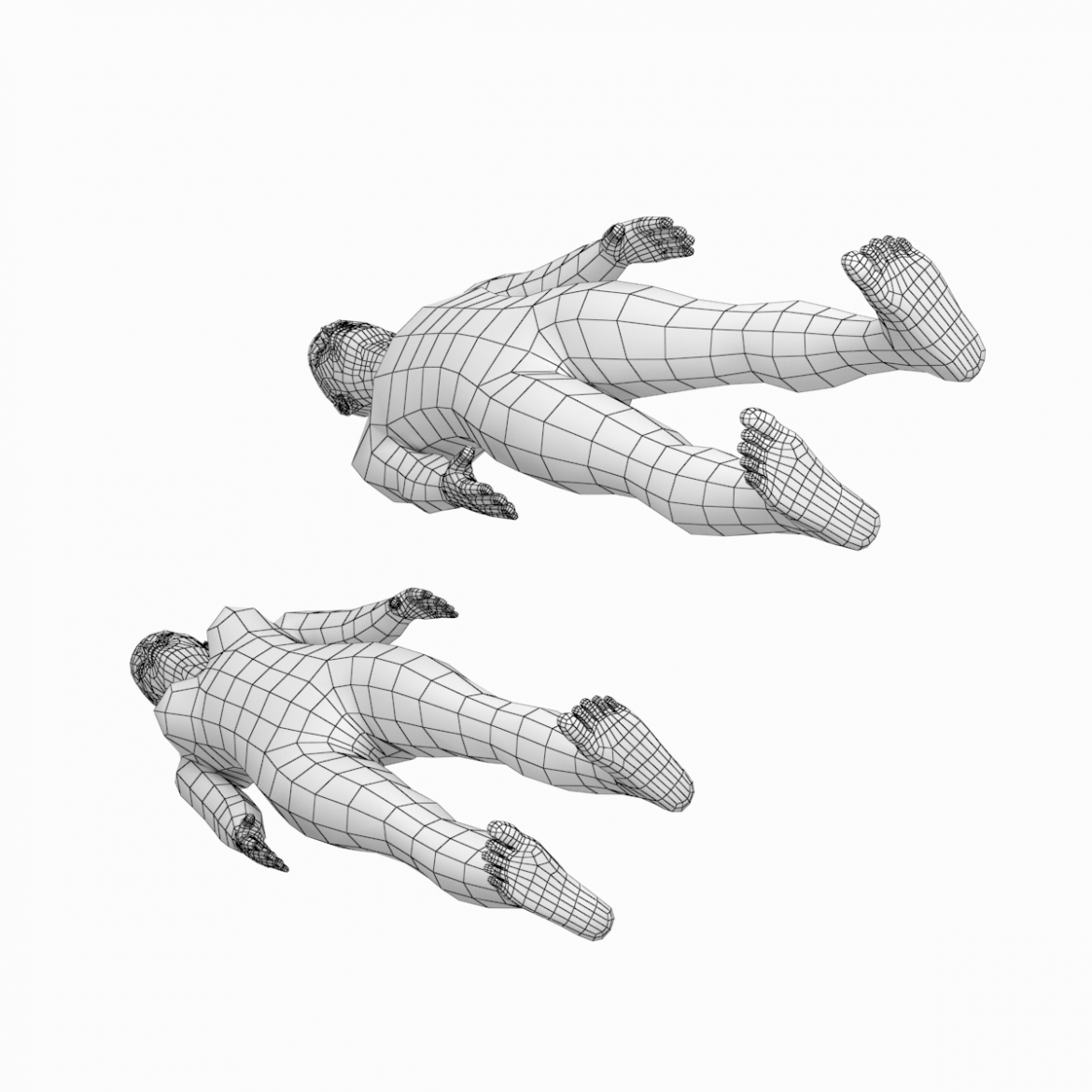 female and male deailed base mesh in rest pose 3d model 3ds max dxf dwg fbx c4d dae ma mb  obj 301298
