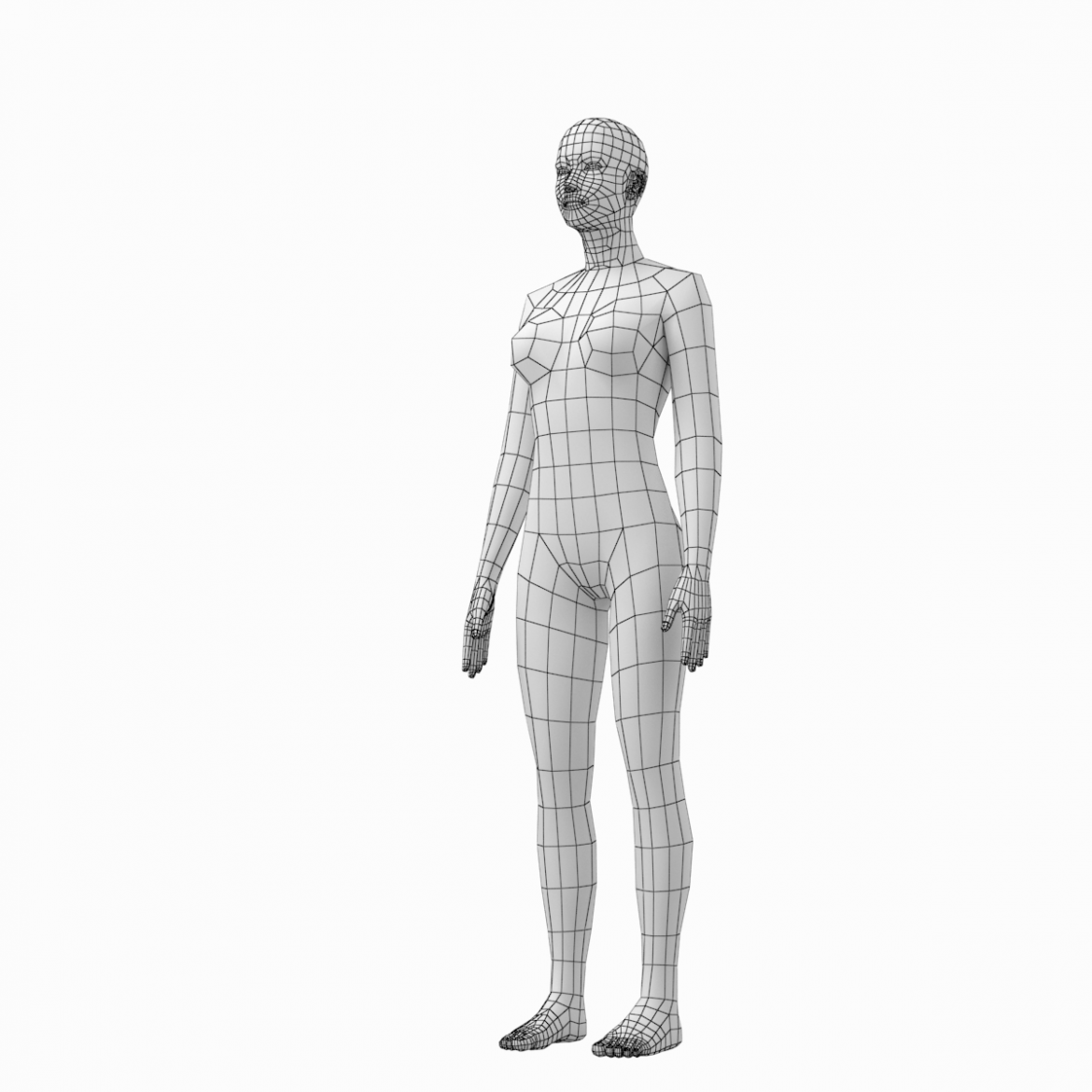 female and male deailed base mesh in rest pose 3d model 3ds max dxf dwg fbx c4d dae ma mb  obj 301299