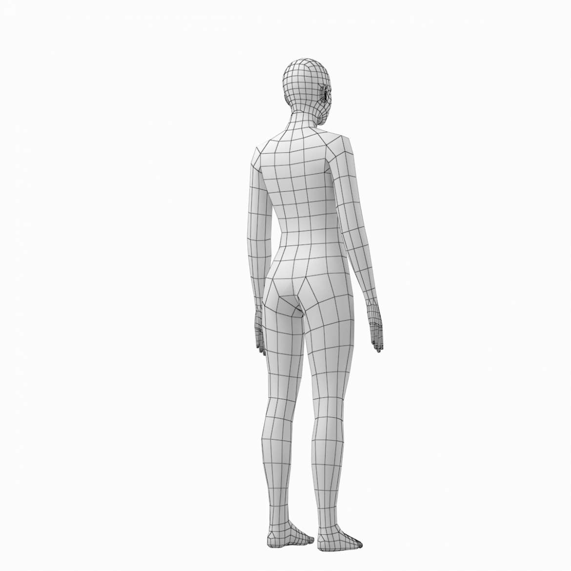 female and male deailed base mesh in rest pose 3d model 3ds max dxf dwg fbx c4d dae ma mb  obj 301300