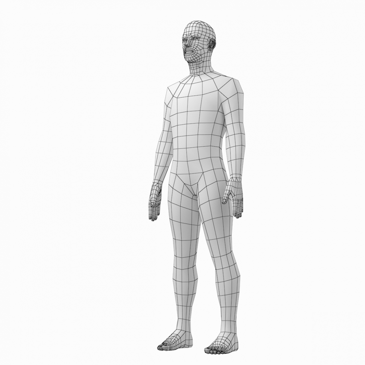 female and male deailed base mesh in rest pose 3d model 3ds max dxf dwg fbx c4d dae ma mb  obj 301301