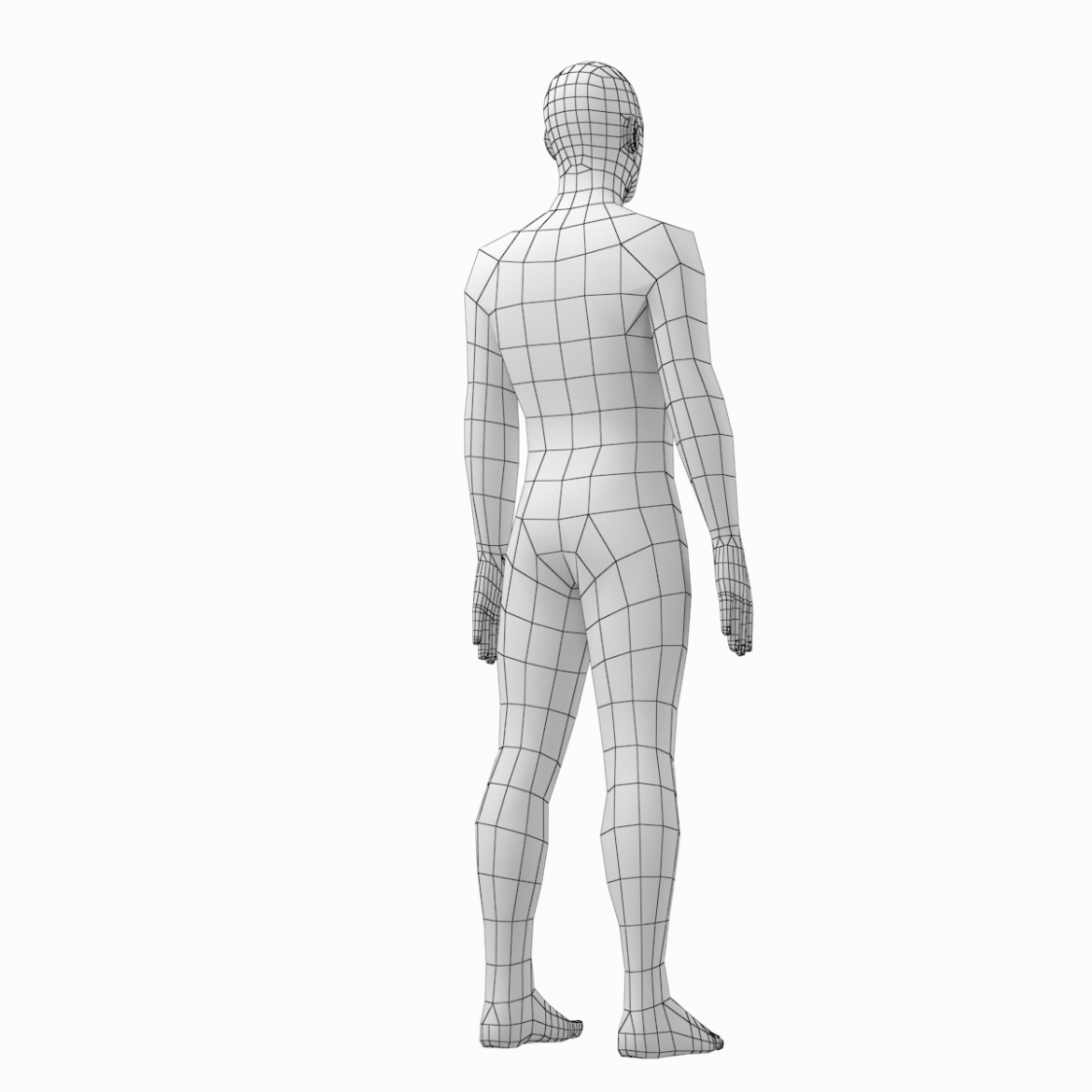 female and male deailed base mesh in rest pose 3d model 3ds max dxf dwg fbx c4d dae ma mb  obj 301302