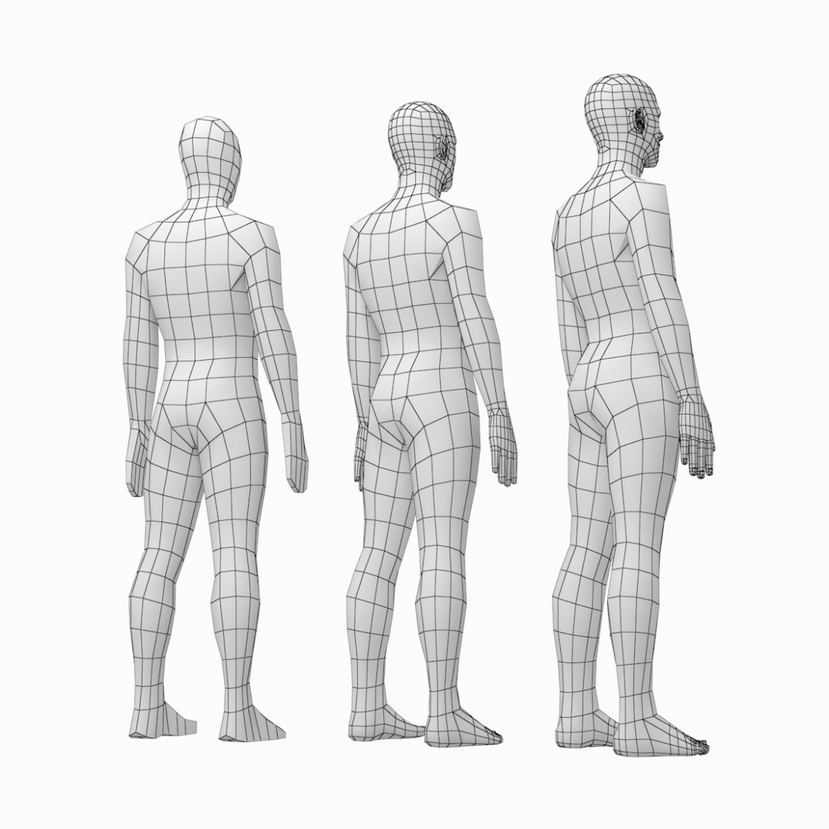 female and male base mesh in rest pose bundle 3d model 3ds max dxf dwg fbx c4d dae ma mb  obj 301326