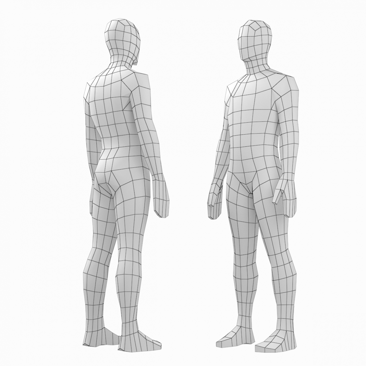 female and male base mesh in rest pose bundle 3d model 3ds max dxf dwg fbx c4d dae ma mb  obj 301330