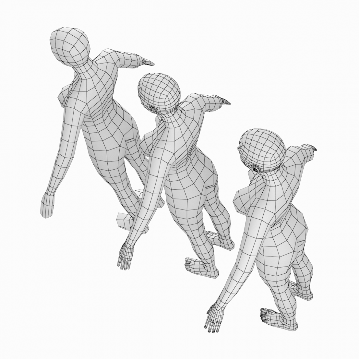 female base mesh natural proportions in a-pose 3d model 3ds max dxf dwg fbx c4d dae ma mb  obj 301360