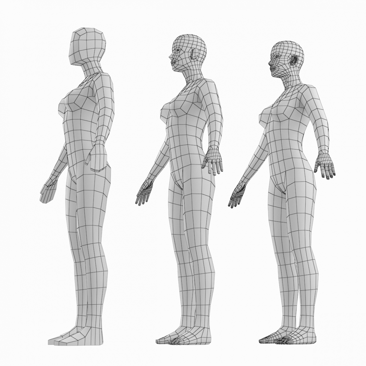 female base mesh natural proportions in a-pose 3d model 3ds max dxf dwg fbx c4d dae ma mb  obj 301361