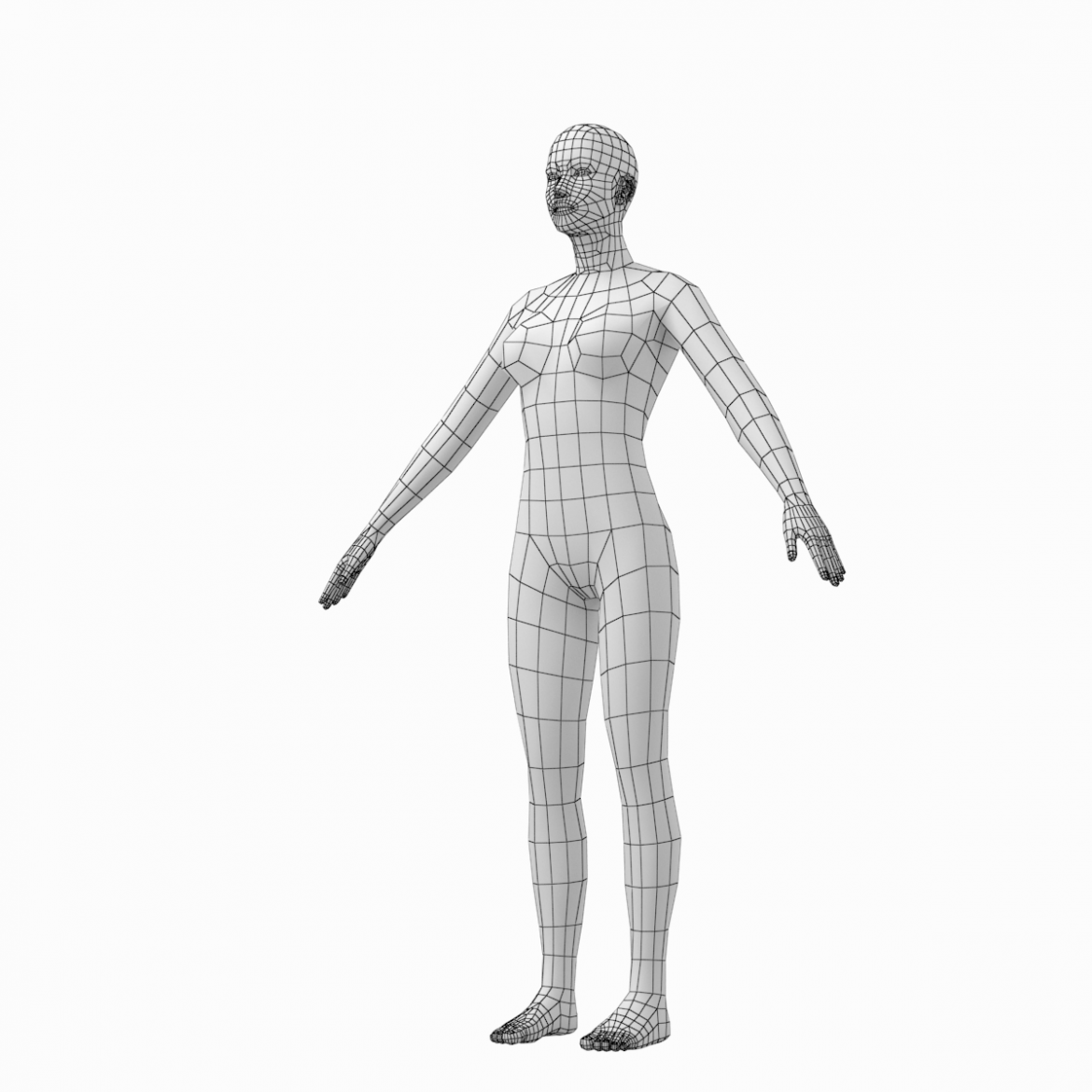 female and male base mesh in a-pose 3d model 3ds max dxf dwg fbx c4d dae ma mb  obj 301400