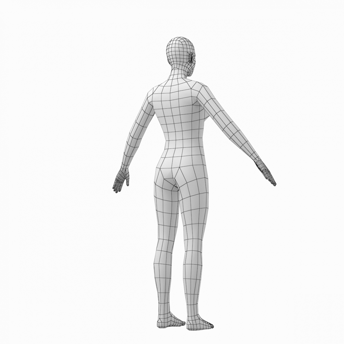 female and male base mesh in a-pose 3d model 3ds max dxf dwg fbx c4d dae ma mb  obj 301401