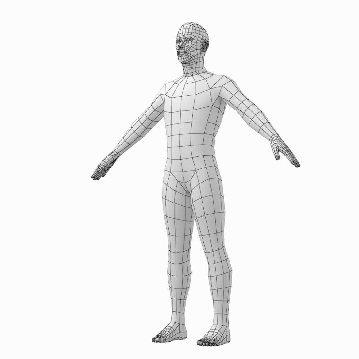 female and male base mesh in a-pose 3d model 3ds max dxf dwg fbx c4d dae ma mb  obj 301402