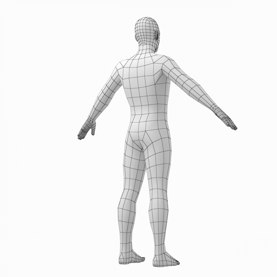 female and male base mesh in a-pose 3d model 3ds max dxf dwg fbx c4d dae ma mb  obj 301403