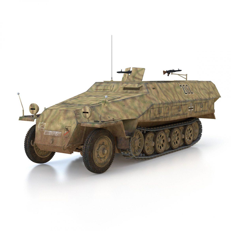 sd.kfz 251/1 ausf.d – half-track – 202 3d model 3ds fbx c4d lwo obj 301416