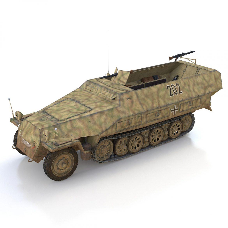 sd.kfz 251/1 ausf.d – half-track – 202 3d model 3ds fbx c4d lwo obj 301417