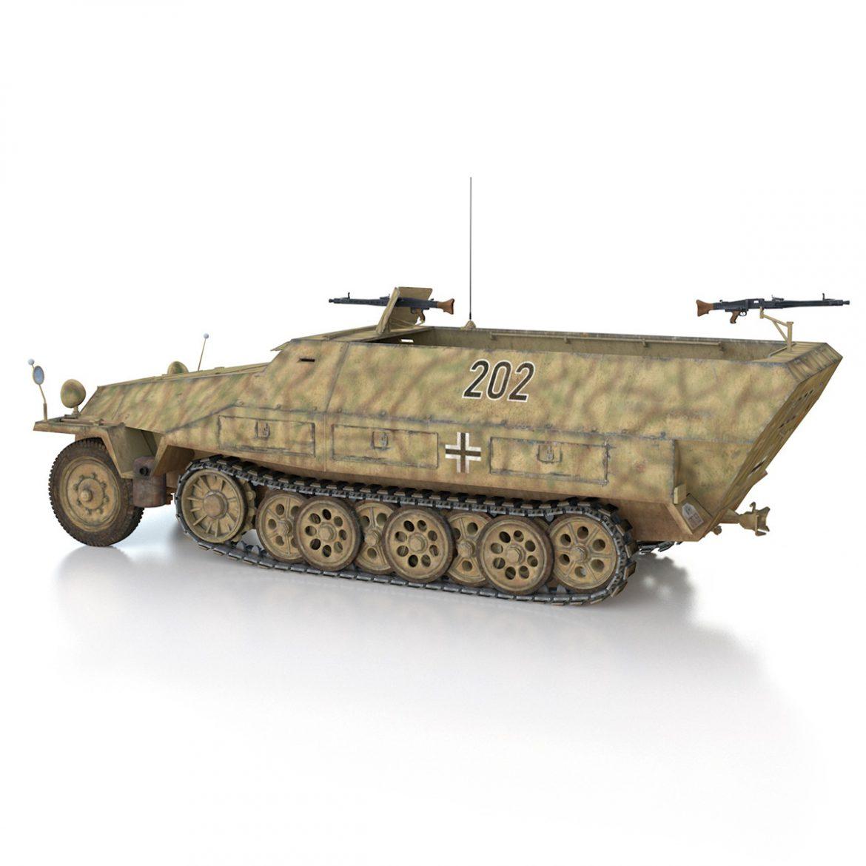 sd.kfz 251/1 ausf.d – half-track – 202 3d model 3ds fbx c4d lwo obj 301418