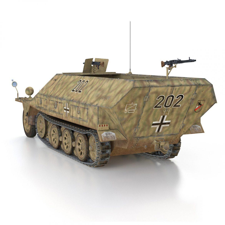 sd.kfz 251/1 ausf.d – half-track – 202 3d model 3ds fbx c4d lwo obj 301419