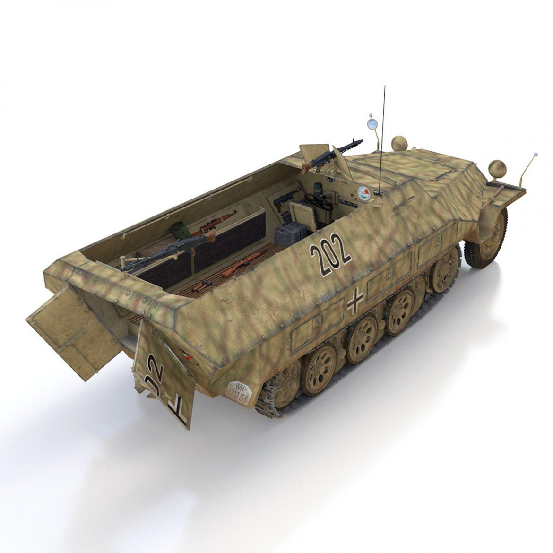 sd.kfz 251/1 ausf.d – half-track – 202 3d model 3ds fbx c4d lwo obj 301421