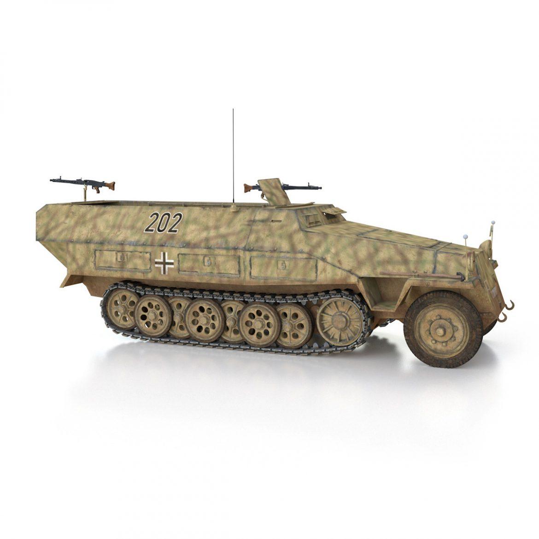 sd.kfz 251/1 ausf.d – half-track – 202 3d model 3ds fbx c4d lwo obj 301422