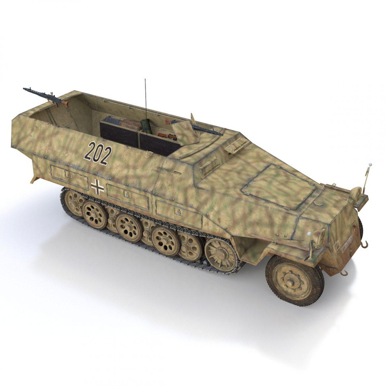sd.kfz 251/1 ausf.d – half-track – 202 3d model 3ds fbx c4d lwo obj 301423