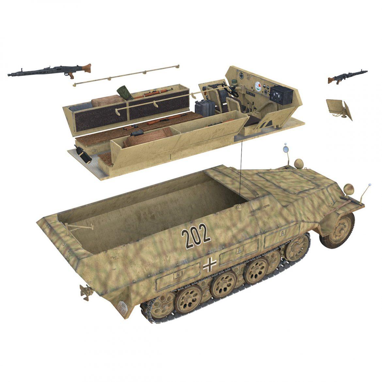 sd.kfz 251/1 ausf.d – half-track – 202 3d model 3ds fbx c4d lwo obj 301424