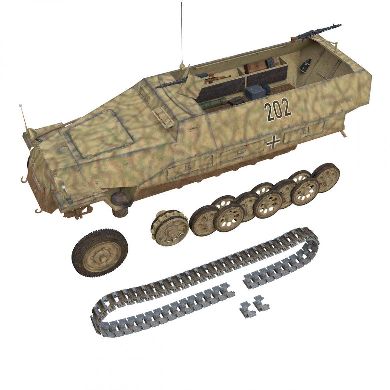 sd.kfz 251/1 ausf.d – half-track – 202 3d model 3ds fbx c4d lwo obj 301425