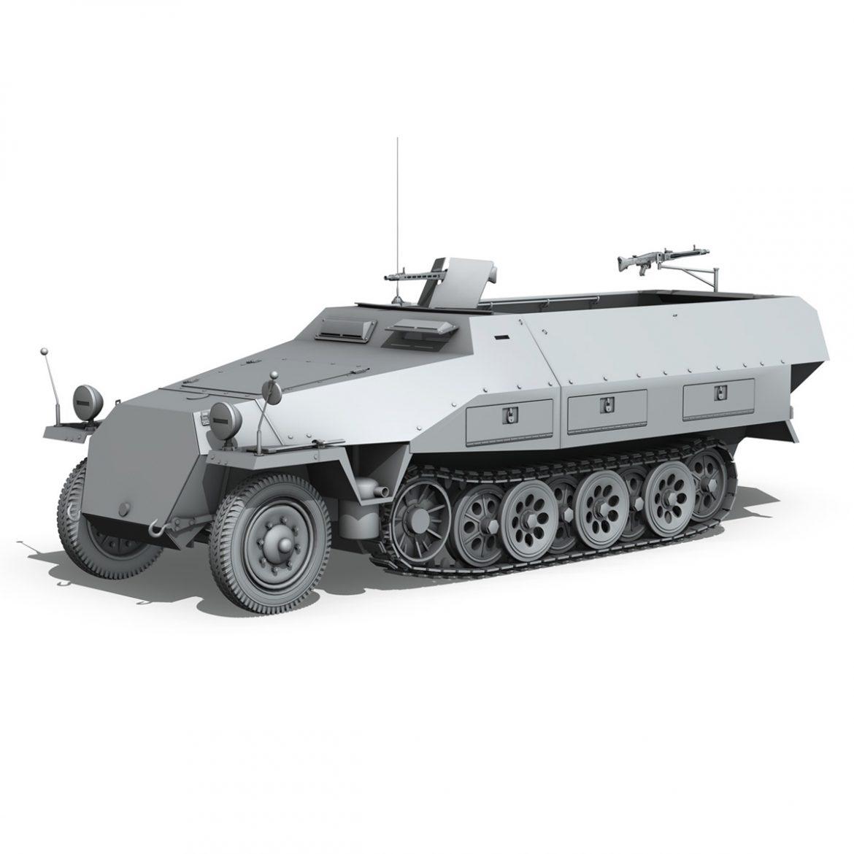sd.kfz 251/1 ausf.d – half-track – 202 3d model 3ds fbx c4d lwo obj 301426