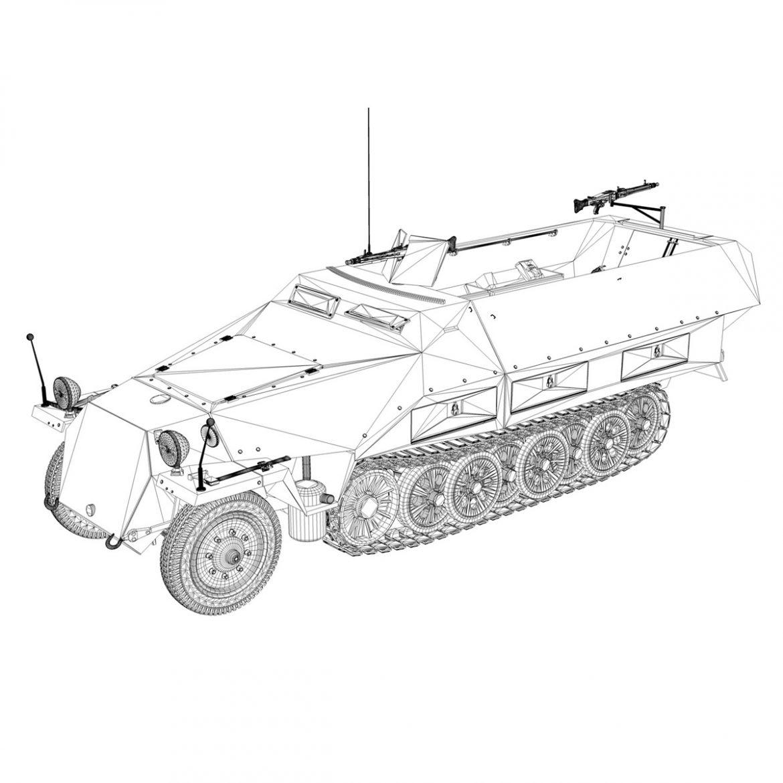 sd.kfz 251/1 ausf.d – half-track – 202 3d model 3ds fbx c4d lwo obj 301427