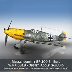 messerschmitt – bf-109 e – jg26 3d model 3ds fbx c4d lwo obj 301434