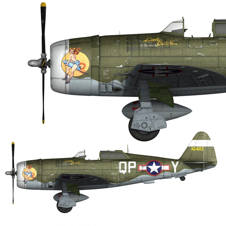 republic p-47c thunderbolt – little butch – qp-v 3d model 3ds fbx c4d lwo obj 301461
