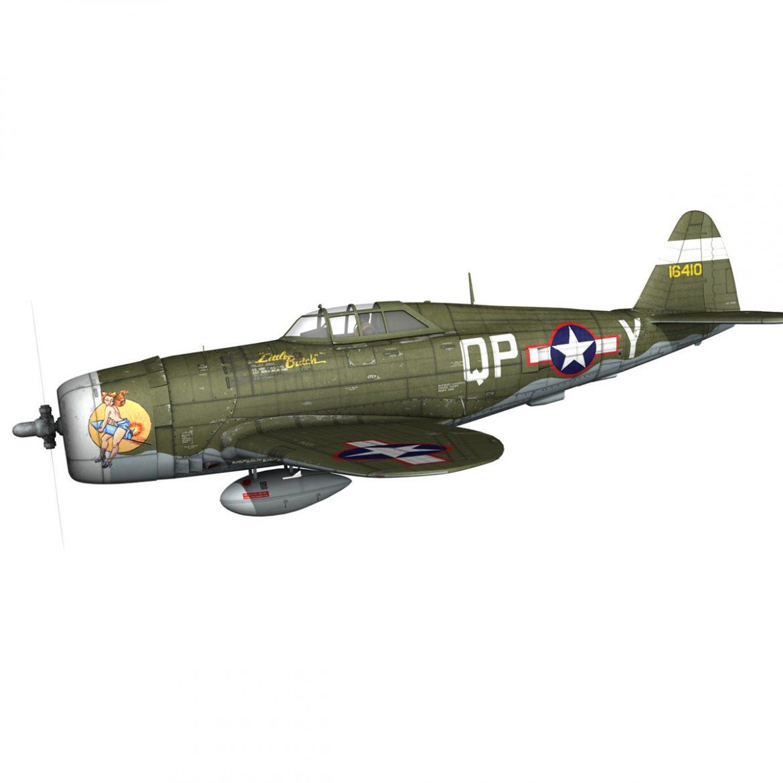 republic p-47c thunderbolt – little butch – qp-v 3d model 3ds fbx c4d lwo obj 301462