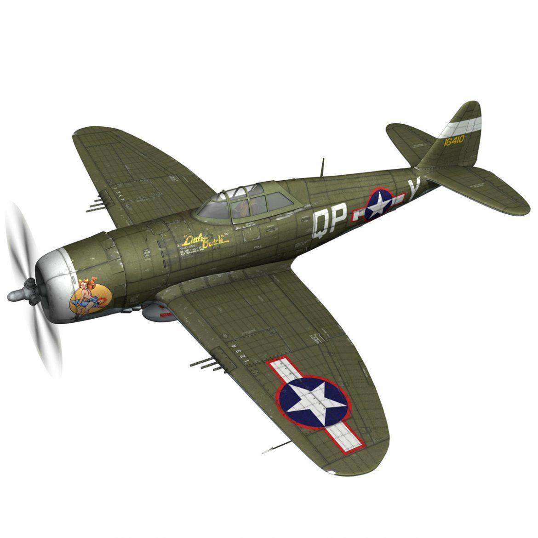 republic p-47c thunderbolt – little butch – qp-v 3d model 3ds fbx c4d lwo obj 301463