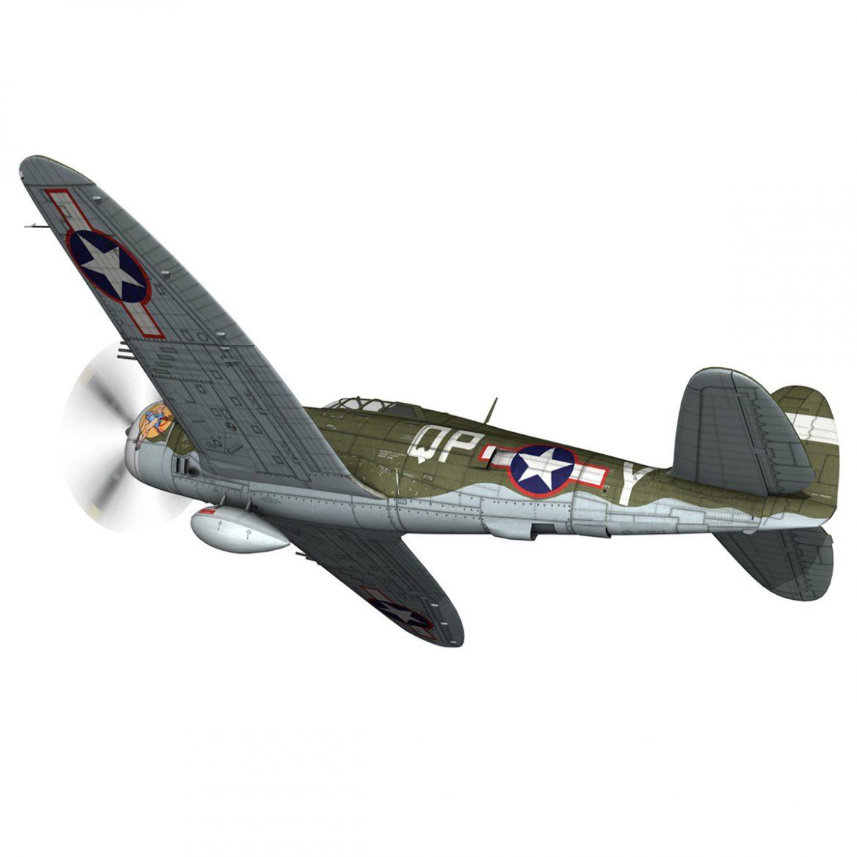republic p-47c thunderbolt – little butch – qp-v 3d model 3ds fbx c4d lwo obj 301465