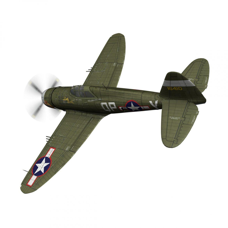 republic p-47c thunderbolt – little butch – qp-v 3d model 3ds fbx c4d lwo obj 301466
