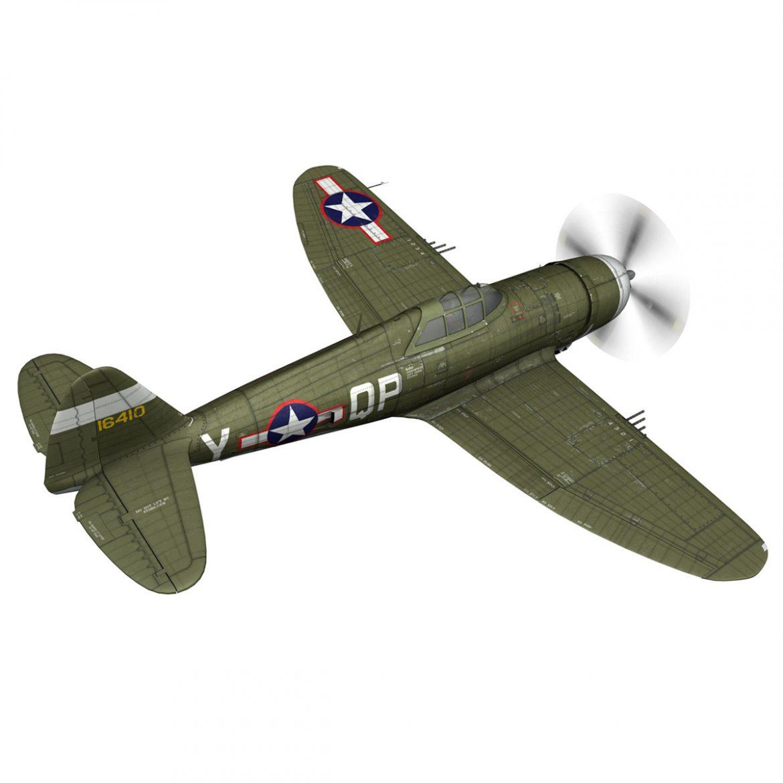 republic p-47c thunderbolt – little butch – qp-v 3d model 3ds fbx c4d lwo obj 301468