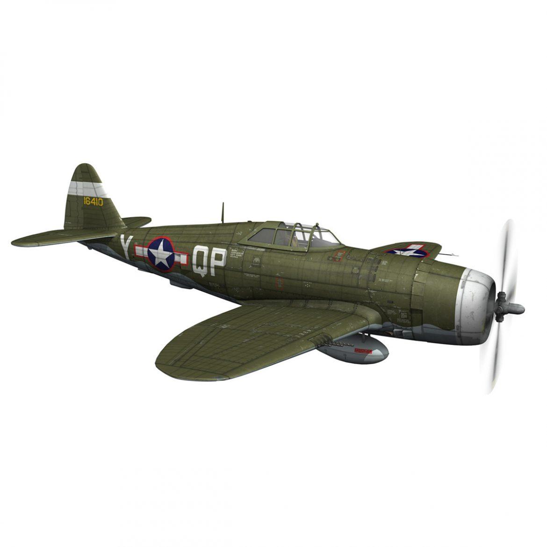 republic p-47c thunderbolt – little butch – qp-v 3d model 3ds fbx c4d lwo obj 301469