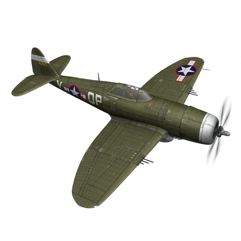 republic p-47c thunderbolt – little butch – qp-v 3d model 3ds fbx c4d lwo obj 301470