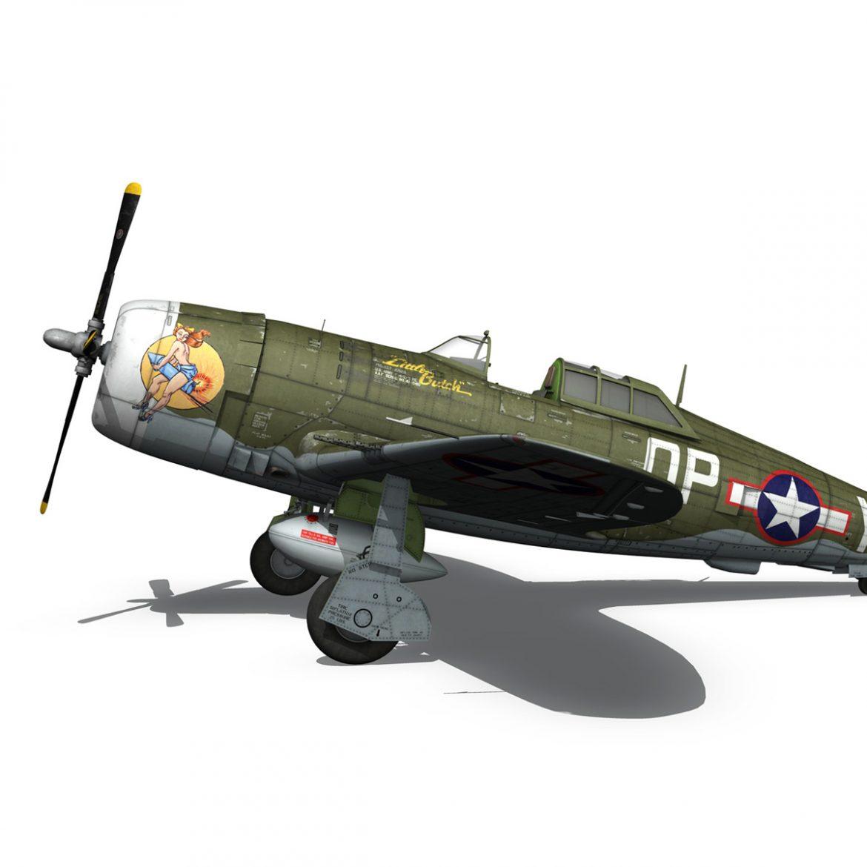 republic p-47c thunderbolt – little butch – qp-v 3d model 3ds fbx c4d lwo obj 301471
