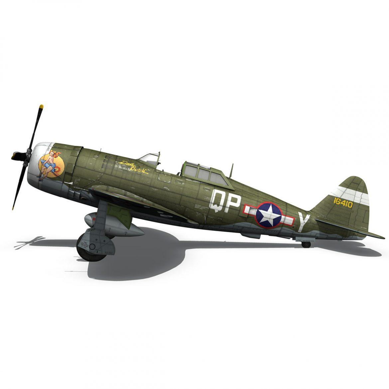 republic p-47c thunderbolt – little butch – qp-v 3d model 3ds fbx c4d lwo obj 301472