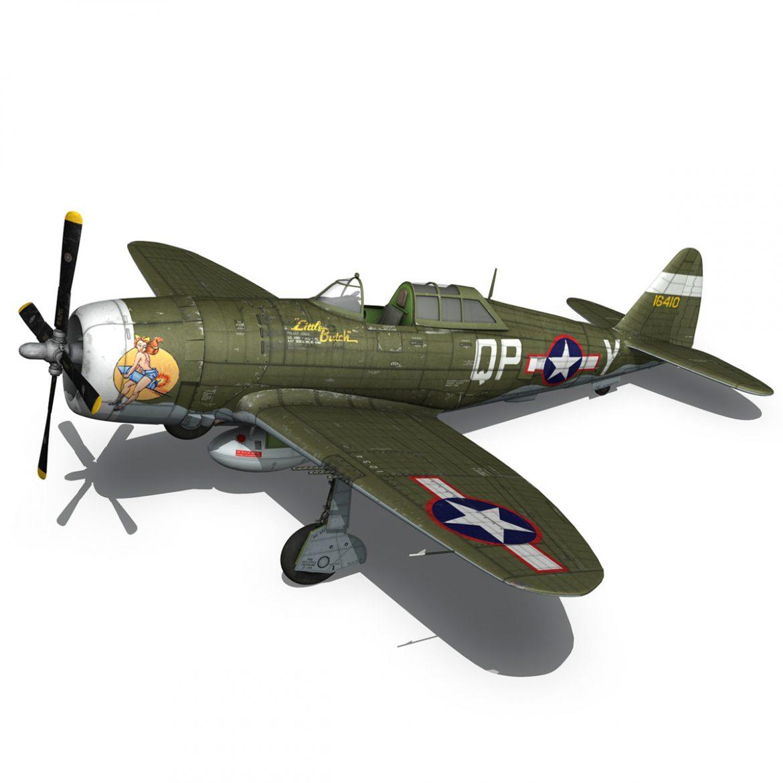 republic p-47c thunderbolt – little butch – qp-v 3d model 3ds fbx c4d lwo obj 301473
