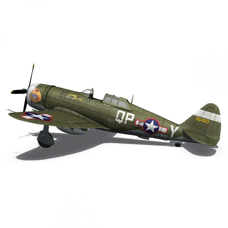 republic p-47c thunderbolt – little butch – qp-v 3d model 3ds fbx c4d lwo obj 301474